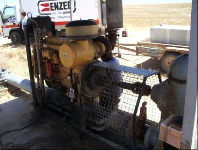 Cat 3306 típusú stacionárius motor a Parillában végzett kísérlet során