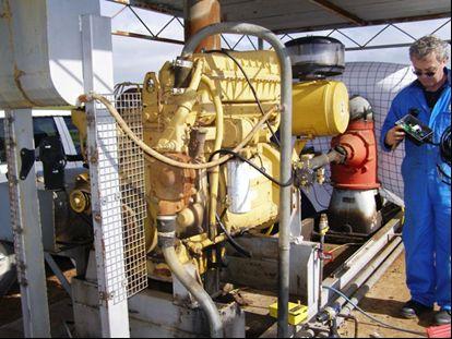Caterpillar stacionárius motor a Mallee régióban
